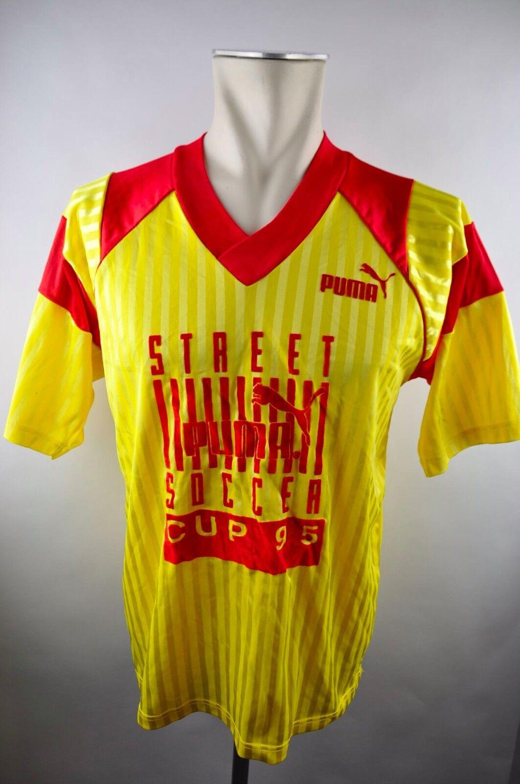 90er Puma Vintage Trikot Shirt Gr. M-L oldschool Street Soccer Cup 1995 Fußball  | Elegantes und robustes Menü