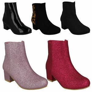 Ladies Anne Michelle Block Heel Ankle /'Boots/'
