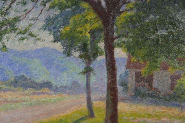 Landscape Post-Impressionism near Mountain Alps? Impressionism
