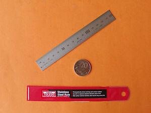 """HARDENED STAINLESS STEEL RULE 150mm / 6"""" RULER B7516 - Gr1 TOLEDO MADE IN JAPAN"""