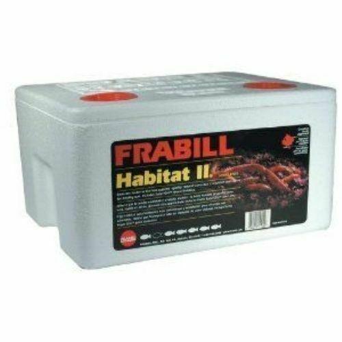 Frabill Habitat II Foam Worm Box with Super-GRO Bedding White One Size 1020