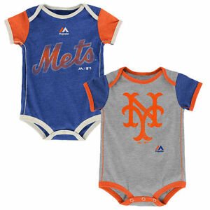 huge discount 28ce2 17078 Details about New York Mets Baby 2pc Creeper Set Vintage Bodysuit Clothes  MLB