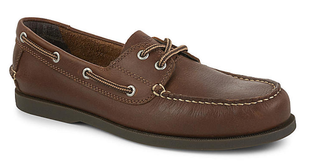 Uomo Dockers Vargas Rust Pelle Boat Shoes [90-30406]