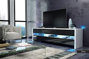 Dettagli su Mobile moderno Ulisse, porta tv design per soggiorno giovane in  5 colori con led