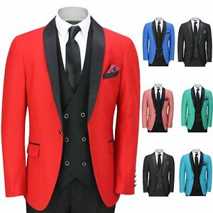 8bea0e83c6c Mens 3 Piece Tuxedo Suit Formal Wedding Tailored Fit Dinner Jacket ...