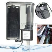 Quiet Aquarium Fish Tank External Hang On Water Filter Surface Skimmer 300L/H