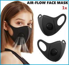 Face Mask Protective Covering Mouth Masks Washable Reusable Black UK