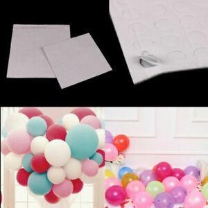 100-punti-attaccare-PALLONCINI-a-soffitto-parete-Party-Matrimonio-Supply-bolla-Sticke