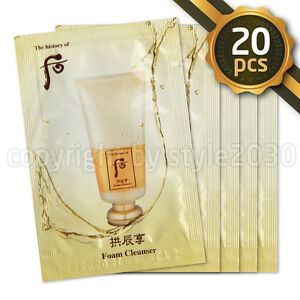 The-history-of-Whoo-Gongjinhyang-Foam-Cleanser-2ml-x-20pcs-Sample