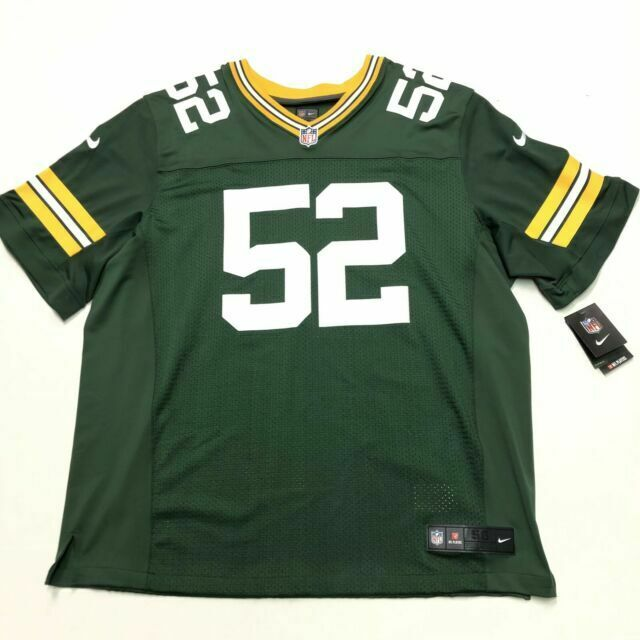 Green Bay Packers Clay Matthews Nike Elite Authentic Football Jersey Size 56 3xl