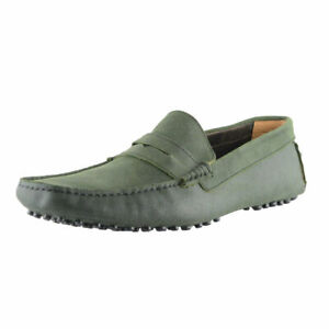 Bruno Magli Men/'s Green Suede Driving Moccasins Loafers Shoes Sz 7 8 9 10 11 12