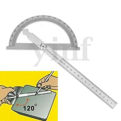180 Degree Detachable Round Head Rotary Angle Protractor Ruler Measuring