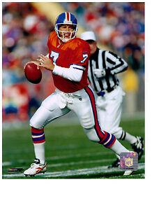 f59b77fc Details about John Elway Authentic Throwback 8x10 Color Photo Denver  Broncos NFL Hologram