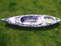 Sit On Top/sit Inside Fishing Kayak Canoe Galaxy Bison - Purple Camouflage