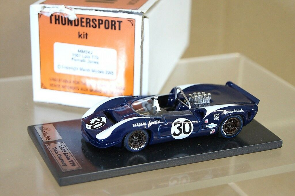 Marsh Models mm24j 1967 Lola T70 Parnelli Jones Auto N ° 30 Dan Gurney Mv