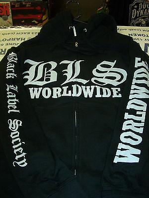 BLACK LABEL SOCIETY BLS WORLDWIDE ZIP UP HOODIE NEW !