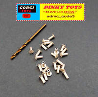25 x Replacement RIVETS & Drill Bit for RE-FIXING BASEPLATES Corgi DINKY Spot On
