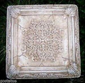 """Gostatue MOLD plaster,concrete plastic tile fleur de lis mold 10"""" x up to 1"""""""