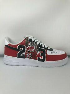 rozsądna cena strona internetowa ze zniżką niezawodna jakość Details about Custom Nike Air Force 1 '07 - Chicago Bulls 23 (Brand new)
