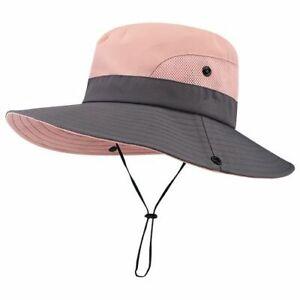 90a721e3 Wide Brim Sun Hats For Women Summer Cap Beach UV Ponytail Hunting ...
