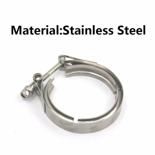 """Universal 2.5/"""" Inch Stainless Steel V-Band Turbo Downpipe Exhaust Clamp Vband"""