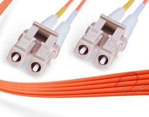 Fiber Patch Cord 10 Meter LC//LC Duplex Multimode OM1 62.5//125 Fiber Cable 2469
