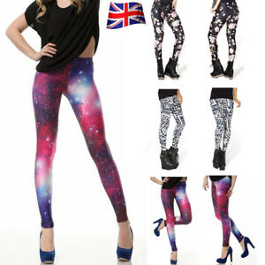 431e744ed2 Details about Women's Print Starry Sky Pattern Stretch Ladies Long Leggings  Small&Plus Size UK