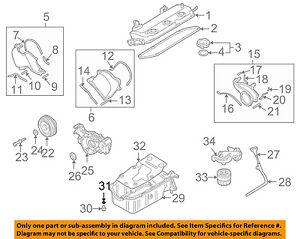 mitsubishi 30 engine diagram wiring diagram library 2004 Dodge Ram 1500 Parts Diagram mitsubishi oem 03 06 montero 3 8l v6 engine drain plug o ringimage is loading mitsubishi