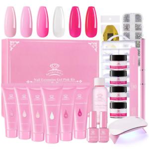 Makartt-Pink-Poly-Nail-Gel-Kit-Nail-Extension-Gel-Builder-Gel-Kit-Nail-Enhancem