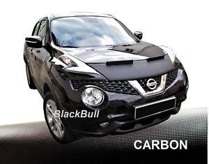 Haubenbra-fuer-Nissan-Juke-Car-Bra-Steinschlagschutz-Tuning-amp-Styling-CARBON
