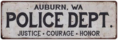 WA POLICE DEPT Home Decor Metal Sign Gift 106180012430 AUBURN