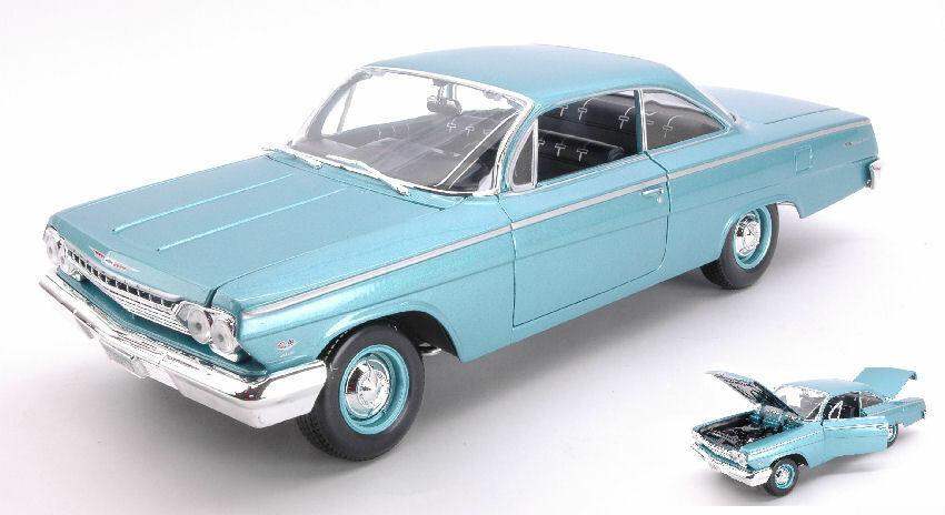 Ven a elegir tu propio estilo deportivo. Chevrolet Bel Air Air Air 1962 azul 1 18 Model 31641B MAISTO  toma