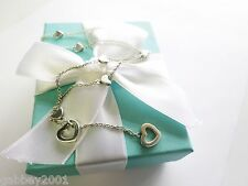 STUNNING Tiffany & Co Heart Link Lariat Silver Necklace - LIMITED EDITION