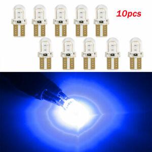 10pcs-LED-T10-194-168-W5W-COB-8SMD-CANBUS-Silica-Blue-License-Light-Bulbs-Lamps