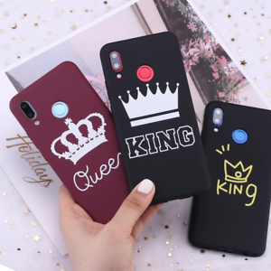 King and Queen Crown case cover for Xiaomi Mi Redmi Note 5 6 7 8 9 lite Pro Plus