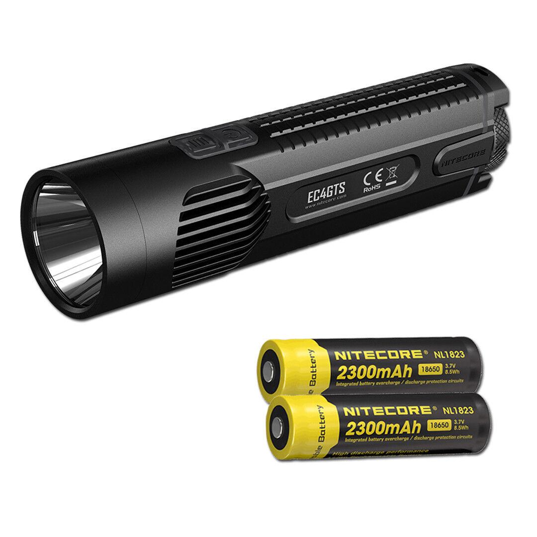 NITECORE EC4GTS 1800 Lumen Long Throw  Search Flashlight & 2 18650 Batteries  online