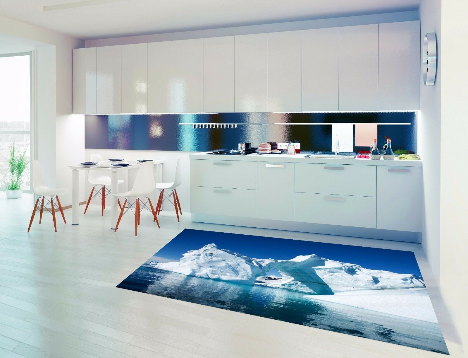 3D Sea Ice Cubes 7 Kitchen Mat Floor Murals Wall Print Wall AJ WALLPAPER UK Kyra