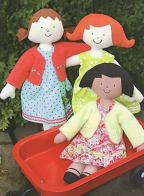 KINDER GIRLS - Sewing Craft PATTERN - Soft Toy Felt Rag Doll Bear Rabbit