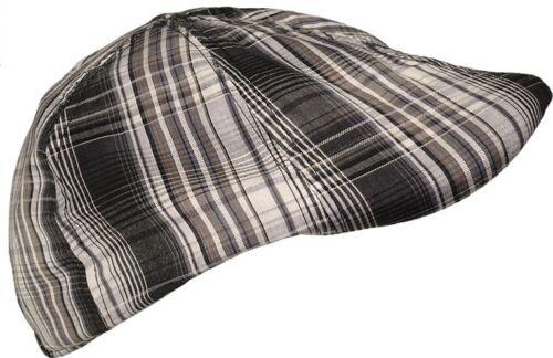 Karierte Flatcap in 2 Größen aus Baumwolle Mütze Caps Cap