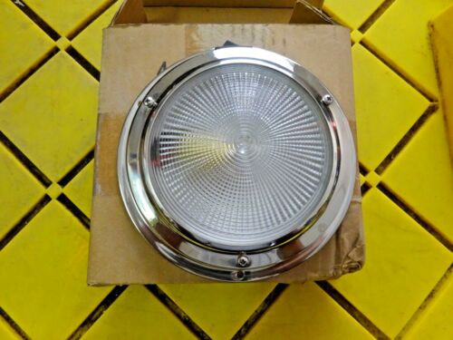 """4/"""" OD Lens NEW IN BOX  BOAT  RV Stainless Steel Dome Light"""