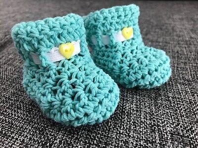 BABYSCHUHE Baby Söckchen, Geschenk zur Geburt, Mädchen/Junge 4 Farben Handarbeit