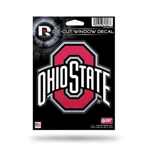 OSU Car Sticker Emblem Rico NEW Ohio State Buckeyes Vinyl Glitter Bling Decal