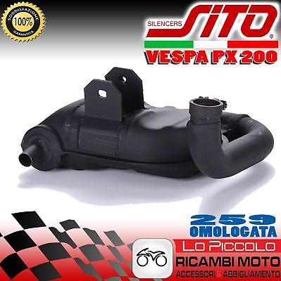 0259 Marmitta Vespa 200 Pe Px - Arcobaleno / Millennium Sitoplus Sito Squisito Artigianato;
