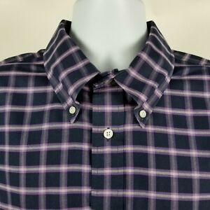 Brooks-Brothers-1818-Regent-Non-Iron-Mens-Purple-Check-Dress-Button-Shirt-Sz-XL