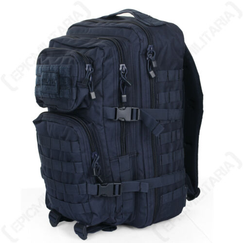 Navy Blue MOLLE Assault Pack Large Rucksack Backpack Bag 36L Military Army New
