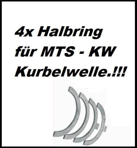 MTS Belarus Motor D50 D240 D242 D243 Kurbelwelle 4x Halbring - Scheibe - ALU