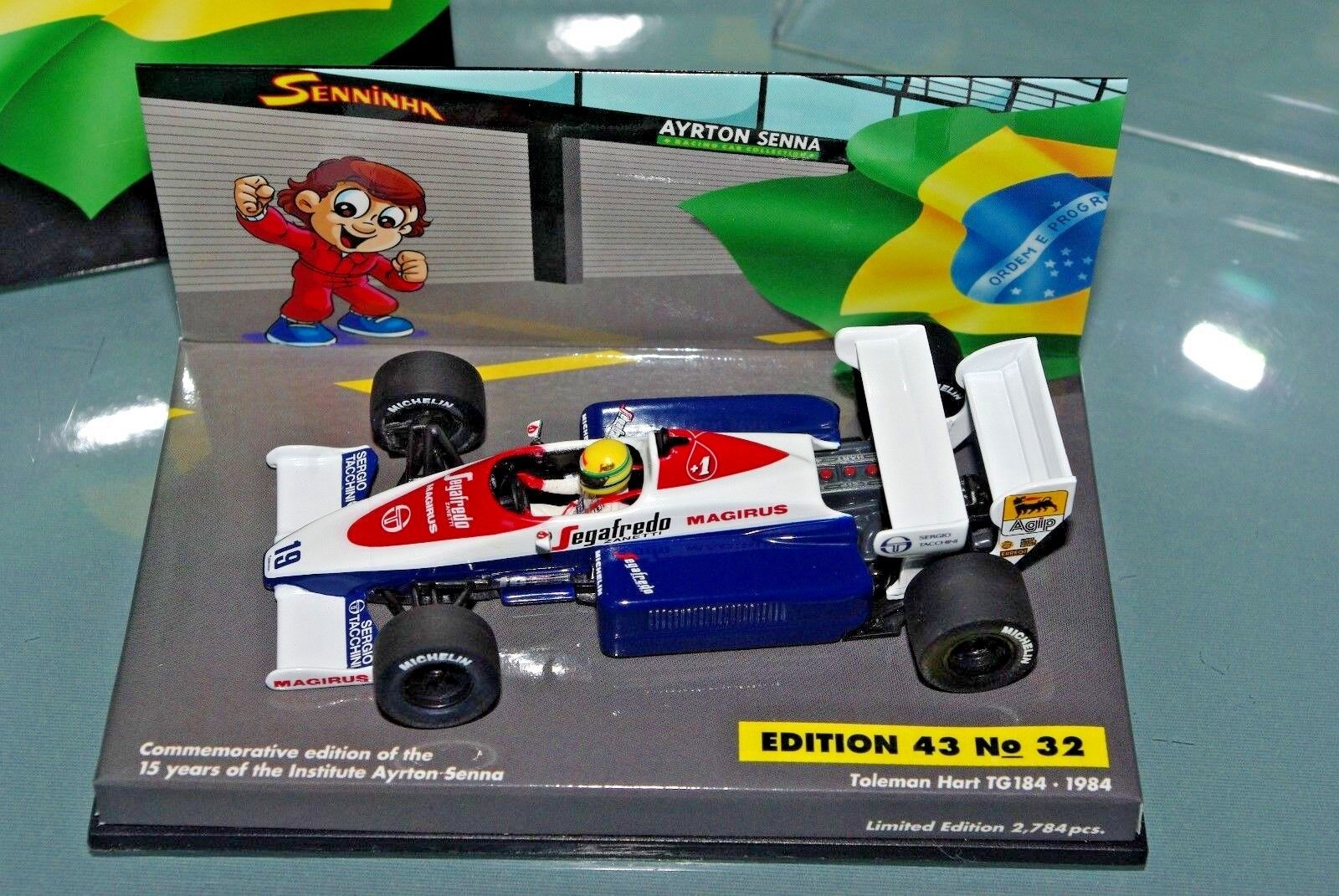 Minichamps F1 1 43 TOLEMAN HART TG184 SENNINHA Edition SENNA COLLECTION  32