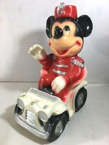 Vintage Antique Walt Disney Mickey Mouse Chalkware Piggy