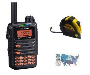 Yaesu-FT-70DR-C4FM-FDMA-144-430-Dual-Band-HT-with-FREE-Radiowavz-Antenna-Tape