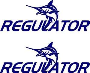 Details About Regulator Boat Lettering Vinyl Decals Boat Stickers 2 Pc Set 8 5x24